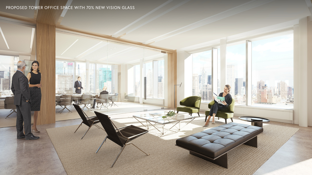 Proposed Tower Office Space with 70% New Vision Gl