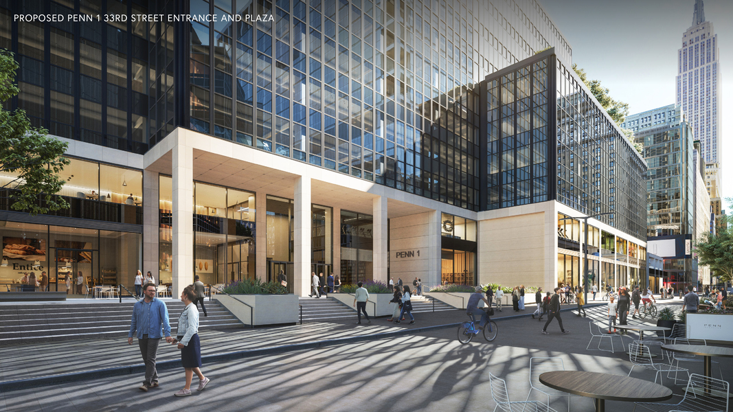 Proposed Penn 1 33rd street entrance and plaza.