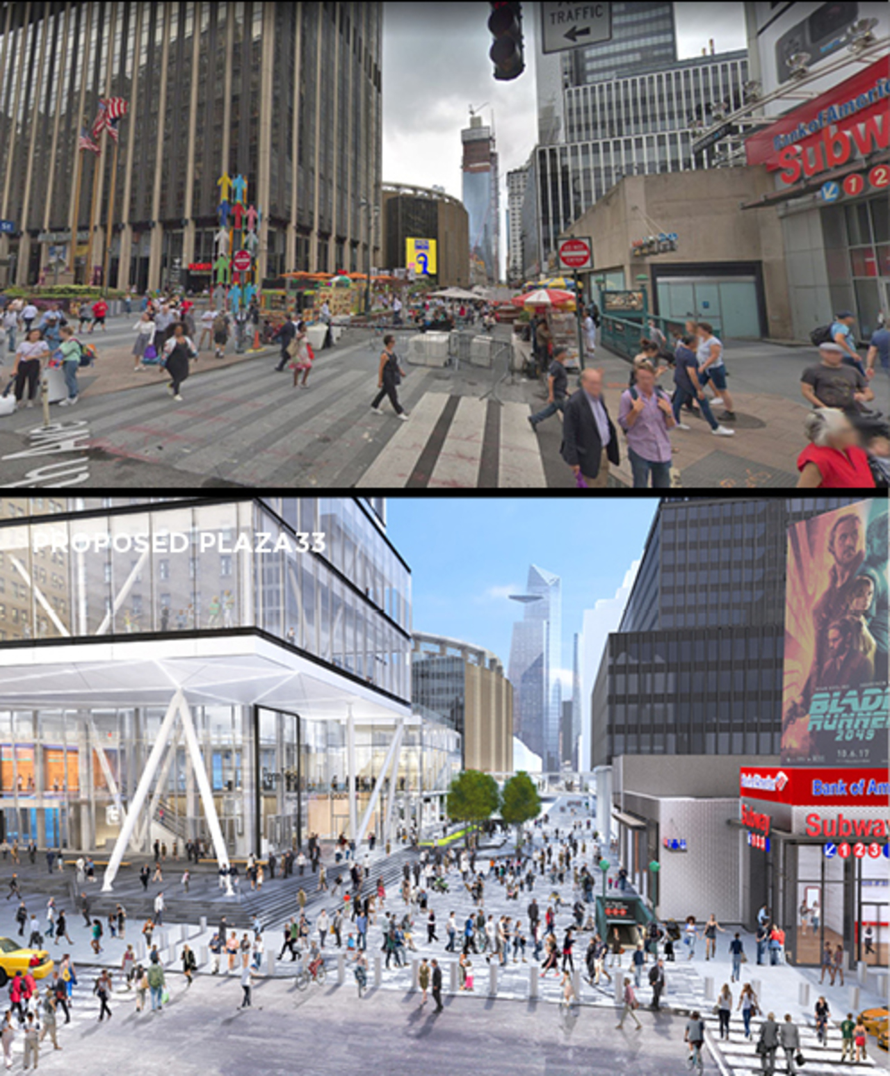 Exisitng Plaza33 / Proposed Plaza33
