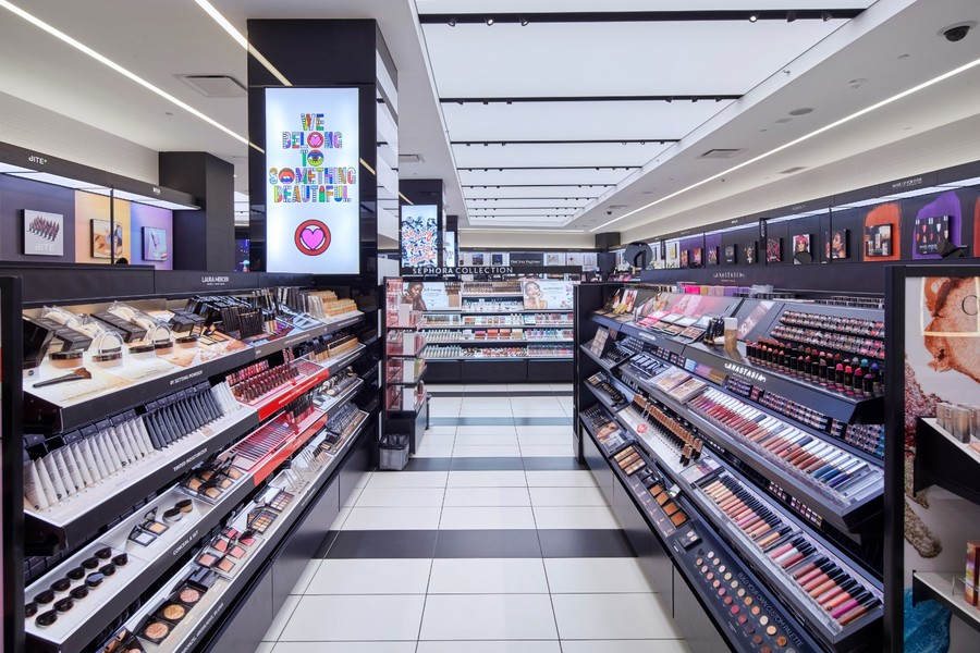 Interior view of Building's Sephora Store