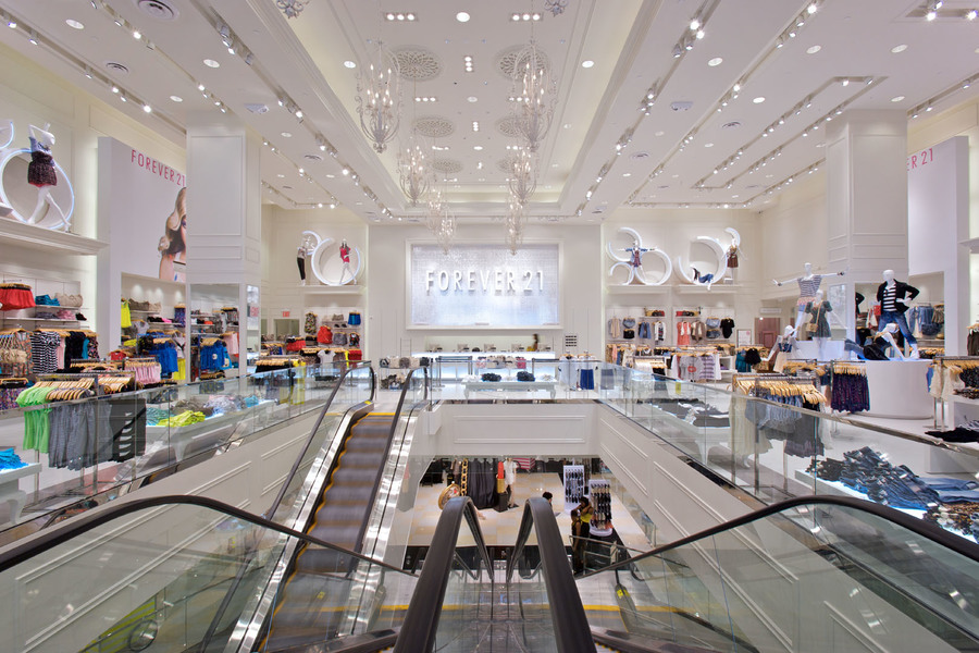 Building's Clothing Store Forever 21 Interior