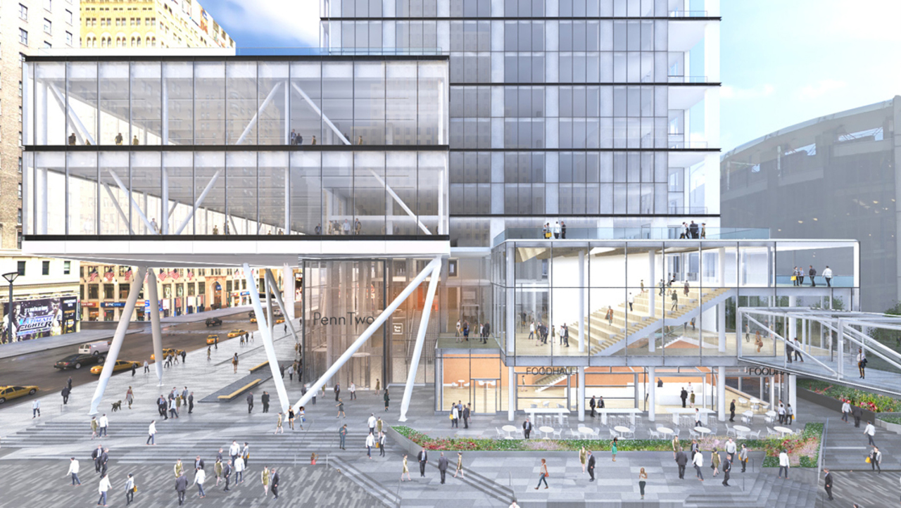 Proposed North Façade Of PENN 2 Looking South At Plaza33