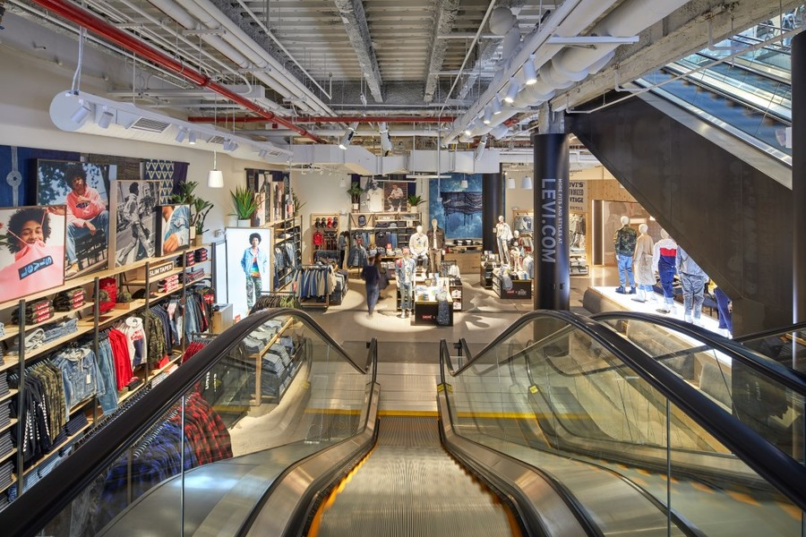 Interior view of Building's Levi's Store