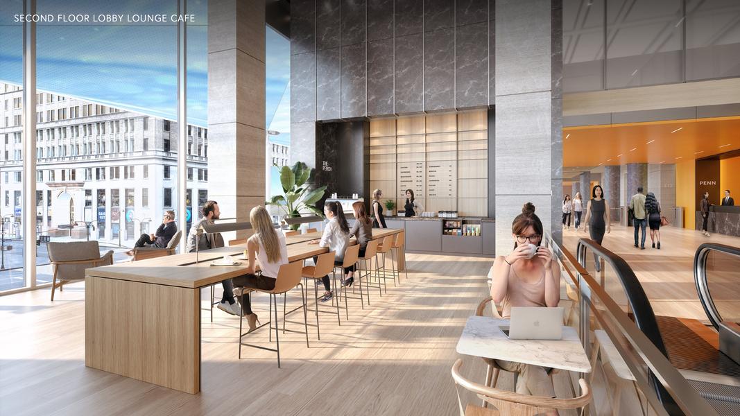 Second floor lobby lounge cafe
