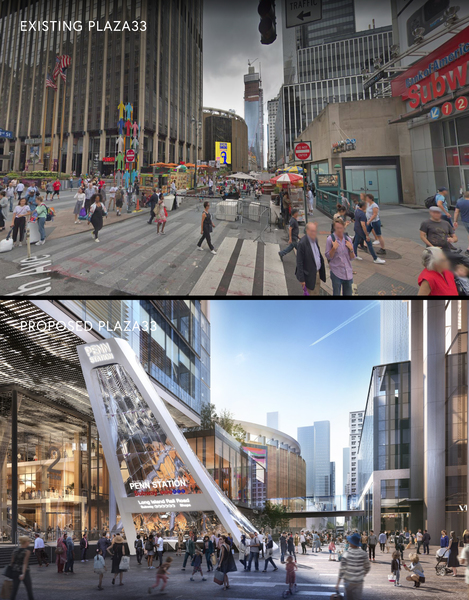 Before and After Street Views of Building Entrance