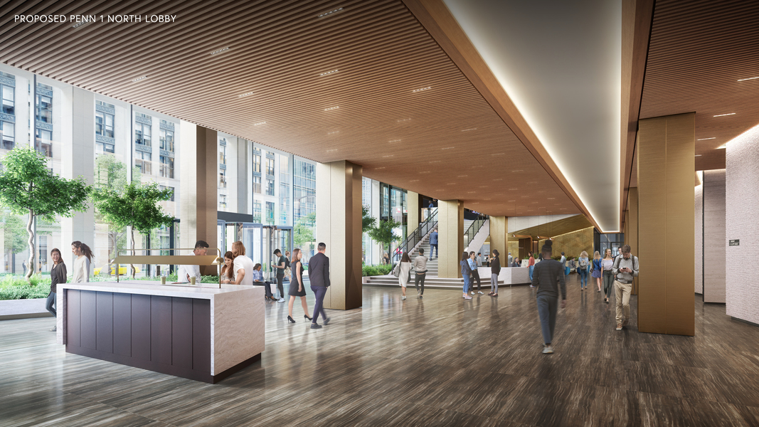 Proposed Penn 1 north lobby.