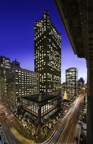 Building Exterior Aerial View