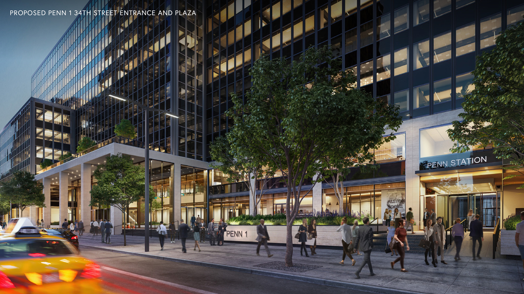 Proposed Penn 1 34th streeet entrance and plaza.