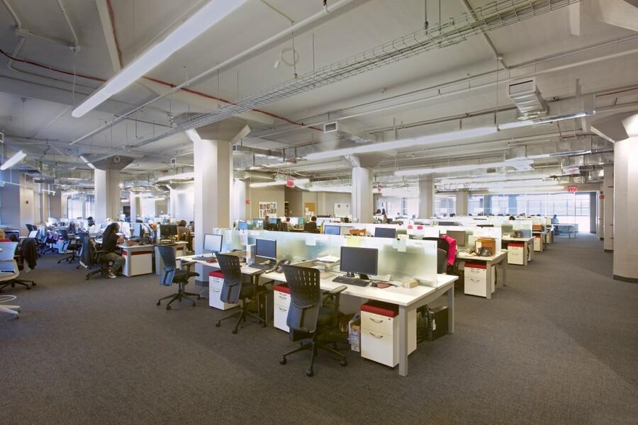Open floor plan for office space