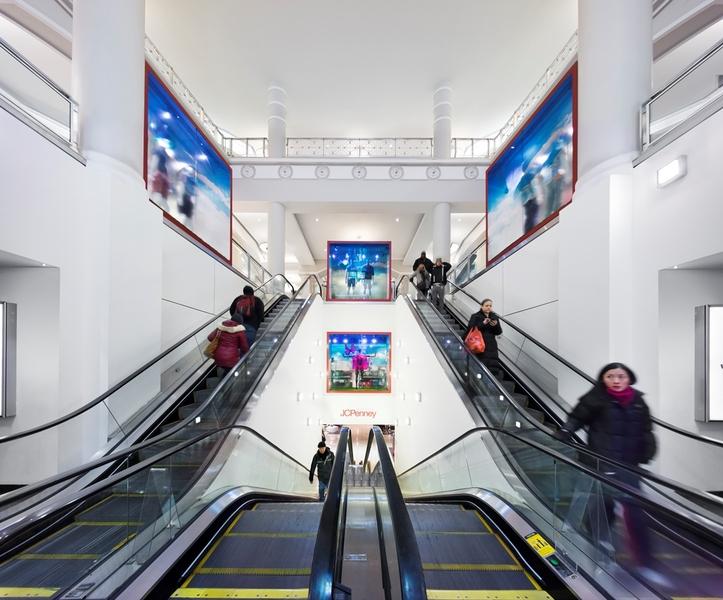 Building Interior Escalators