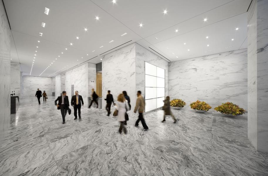 Building Interior Hallway View