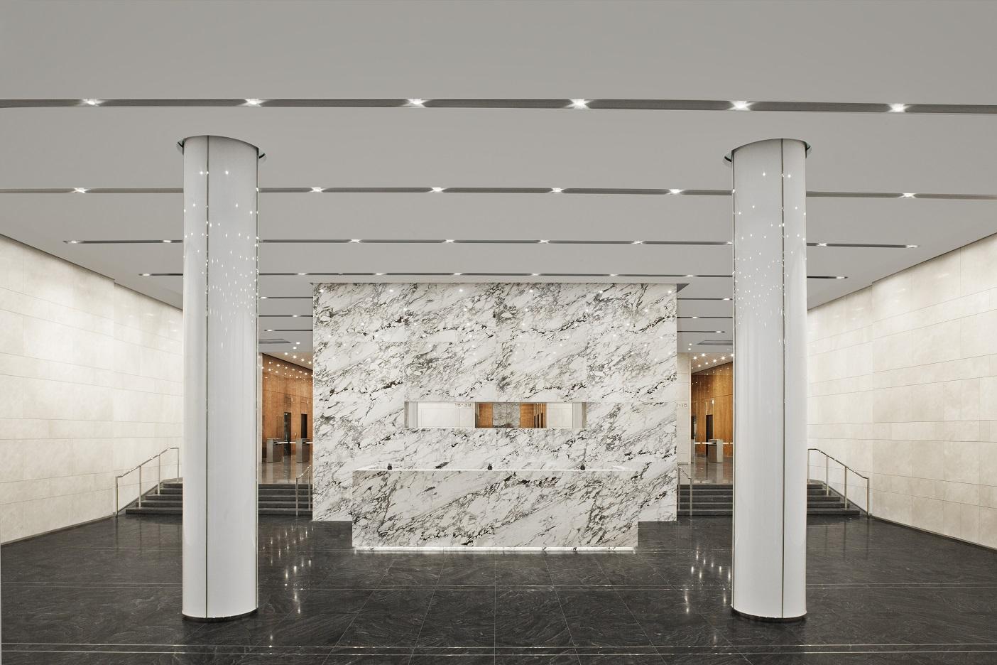 Front Entrance Interior, welcome desk