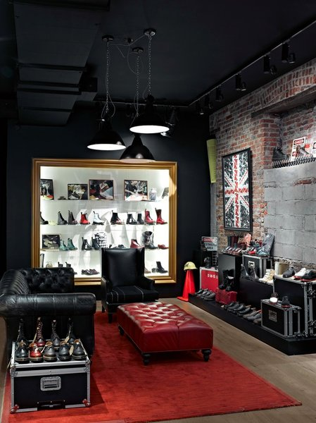 Interior view of Shoe Store
