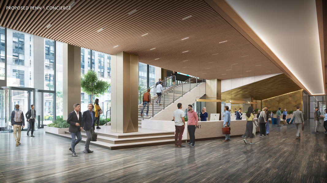 Proposed Penn 1 concierge.