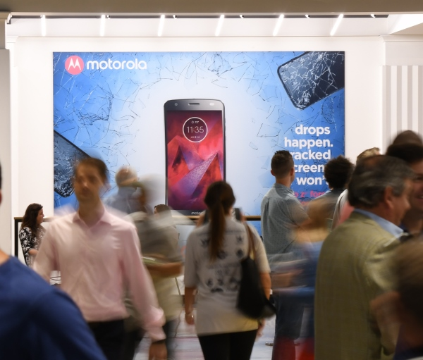 Series of pictures showing the Motorola branding