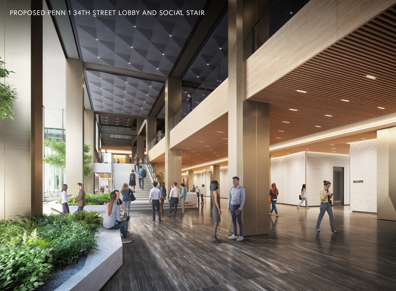 Proposed Penn 1 34th street lobby and social stair