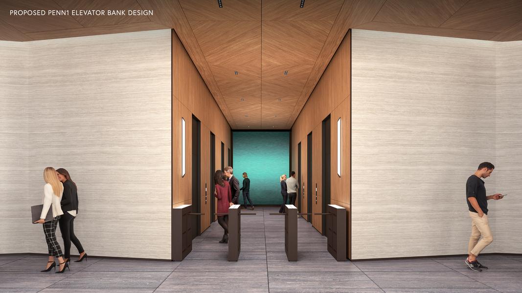 Building Interior Elevator Area